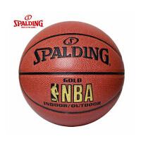 Spalding斯伯丁篮球 64-284 NBA金色经典LOGO pu篮球 送气针网兜口哨