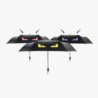 当当优品 小恶魔创意折叠雨伞三折伞男女晴雨两用遮阳伞