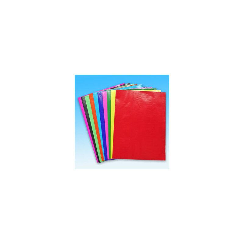 儿童/学生手工折纸剪纸彩色纸 彩色蜡光纸/电光纸 16k 一包20张 10个