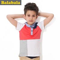 巴拉巴拉balabala童装男童拼接时尚短袖T恤夏装