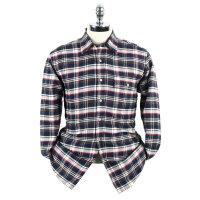 雅戈尔男装正品秋冬款绒格布修身保暖长袖衬衫 BN15118-42Y