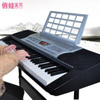 61键儿童教学琴可外接MP3电子琴益智音乐培养乐器专业级入门