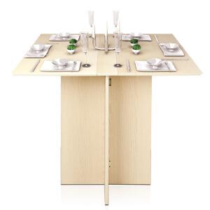 [当当自营]慧乐家 泊雅特简约折叠餐桌 白枫木色 11072-1