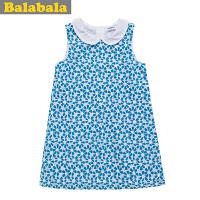 巴拉巴拉balabala女童娃娃领连衣裙夏装新款童装