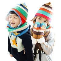 韩国KK树儿童帽子围巾手套套装一体男童女童冬季宝宝保暖护肤套装