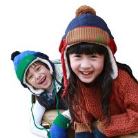 韩国kk树宝宝帽子秋男儿童帽子秋冬款女童帽子小孩保暖加绒护耳帽