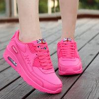路屋 2016韩版女士运动鞋AIR MAX90女鞋骚粉气垫增高透气跑步鞋休闲鞋厚底板鞋潮鞋