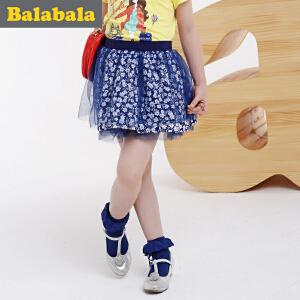 巴拉巴拉童装女童短裙中大童碎花半身裙春装儿童淑女裙子