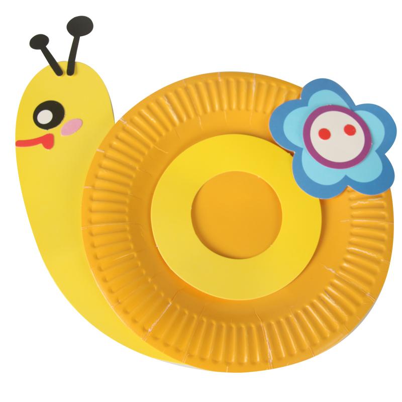 大贸商 多种造型纸盘材料包 幼儿园diy手工粘贴彩色纸盘 儿童动手能力
