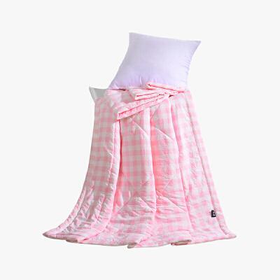 当当优品家纺 水洗棉裸睡夏凉被 150x200双人空调被 俏丽(粉)当当自营 柔软舒适水洗棉 水洗机洗不变形