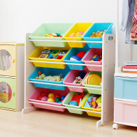 爱丽思IRIS 多功能彩色儿童玩具收纳储物架置物架