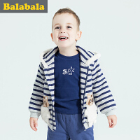巴拉巴拉童装男童套装小童运动冬装新款宝宝长袖裤子套装加厚连帽