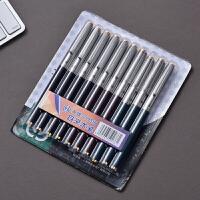 正品英雄钢笔329特细经典老款学生练字钢笔 10支卡装带防伪查询