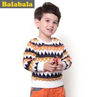 巴拉巴拉balabala 童装男童毛衫幼童宝宝上衣2015儿童冬装新款