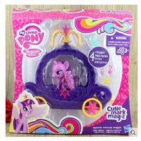 小马宝莉女孩玩具 过家家可爱标志彩虹列 紫悦公主马车套装
