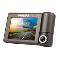 Philips/飞利浦 CVR600行车记录仪广角高清1080P夜视3.0英寸触控