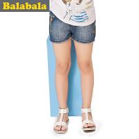 巴拉巴拉童装女童牛仔短裤中大童短裤牛仔裤2015儿童夏装新款裤子  179