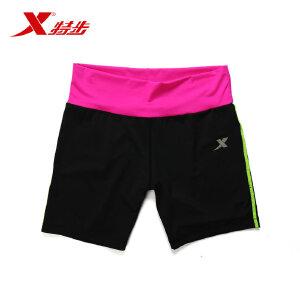 特步 运动时尚跑步健身弹性舒适透气女款运动短裤