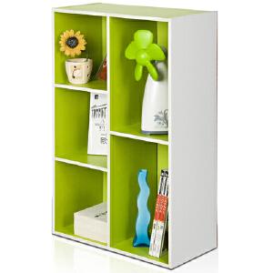 [当当自营]慧乐家 彩色五格柜11069青绿+白 书架书柜 收纳储物柜子 优品优质