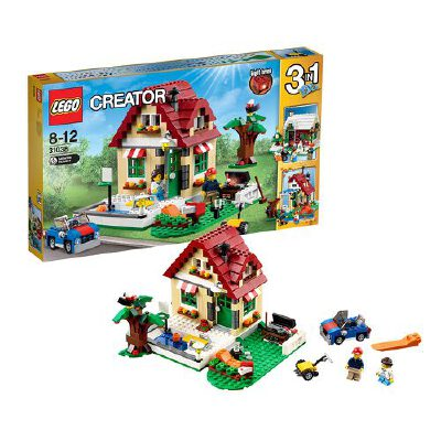 [当当自营]LEGO 乐高 CREATOR创意百变系列 四季变换小屋 积木拼插儿童益智玩具 31038【当当自营】适合8-12岁,536pcs小颗粒积木