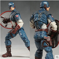 复仇者联盟 漫画英雄美国队长场景 7寸可动关节人偶模型 玩具