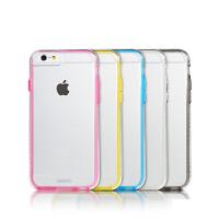 【包邮】Remax iphone6/6s手机壳 4.7寸透明彩边硅胶保护套 透明软套