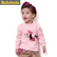 巴拉巴拉balabala童装女童毛衫卡通可爱幼童宝宝上衣2015儿童冬装新款