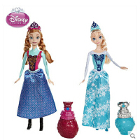 美泰迪士尼公主娃娃女孩玩具冰雪奇缘之变色艾莎 安娜BDK32