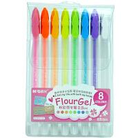 晨光粉彩贺卡笔 AGP61303 金属质感彩色中性笔 8色