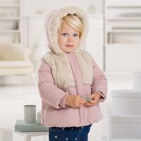 davebella戴维贝拉女童宝宝冬季新款婴儿保暖棉衣外套