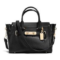蔻驰(COACH)女包 女士旋锁包时尚单肩包 潮流斜跨手提包 34816 黑色