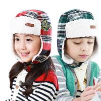 韩国kk树男女儿童帽子冬潮宝宝帽子秋冬蒙古帽护耳保暖加厚1b815