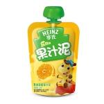 【当当自营】亨氏 Heinz果汁泥乐维滋-苹果香橙(1-3岁)120g/袋 宝宝辅食