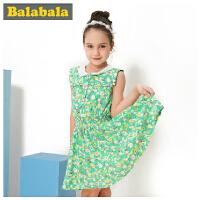 巴拉巴拉balabala童装女童连衣裙中大童儿童夏装新款