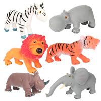 大贸商 仿真动物模型森林野生动物套装老虎狮子儿童玩具早教认知道具 AF25518
