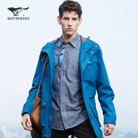 【七匹狼户外】秋季新品 系列防雨都市旅行立领软壳时尚夹克外套 男装 1064608