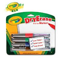 绘儿乐  Crayola 4色 易擦 快干 白板笔-细头食用标准