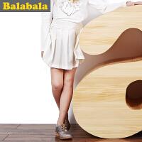 巴拉巴拉balabala童装女童短裙中大童半身裙儿童秋装新款