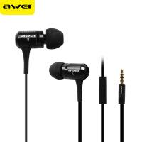 【正品包邮】Awei/用维 ES100i 通用手机面条带麦克风耳机耳塞入耳式有线控