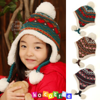 韩国儿童帽子冬潮宝宝帽子秋冬时尚保暖小孩帽子女童帽子2-4-8岁