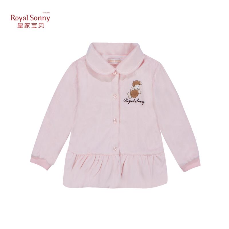 皇家宝贝 女童翻领夹外套公主英伦上衣婴儿外出服宝宝衣服313242006