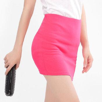 2016个搞笑性签名艾米恋韩版高腰显瘦包臀裙半身裙2015女夏新款纯色一步裙针织短裙2016韩国最新性喜剧