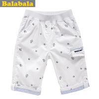 巴拉巴拉balabala童装男童  新款男幼童七分裤夏季儿童休闲裤子