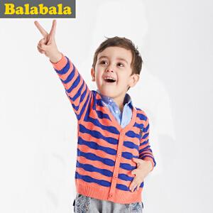 巴拉巴拉春装儿童套头毛衣男宝宝假两件针织衫小童毛线衣