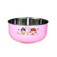 康丰 2008 贝美乐儿童专用不锈钢碗 婴儿碗 隔热碗保温碗300ml 颜色随机