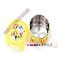 宝露露不锈钢带盖子碗 宝宝碗 儿童婴儿 保温碗 饭盒餐具盖碗