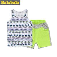 巴拉巴拉童装男童背心短裤套装幼童宝宝两件套儿童夏装新款