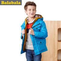 【5.25巴拉巴拉超级品牌日】巴拉巴拉balabala童装男童时尚假两件羽绒服中大童上衣儿童冬装新款