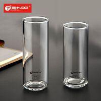天喜家用玻璃杯 透明直身牛奶果汁饮料杯子耐热水杯啤酒杯礼品杯