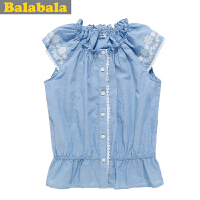 巴拉巴拉 balabala 童装 女童短袖衬衫夏装上新